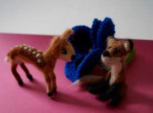 Needle-Felt-Fox-and-Fawn